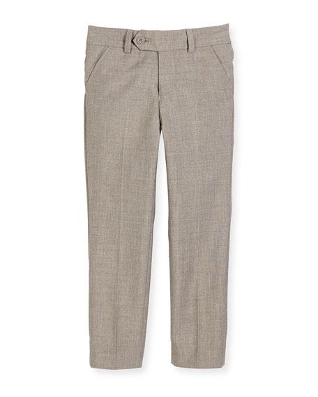 Slim Suit Pants, Light Gray, Size 2-14