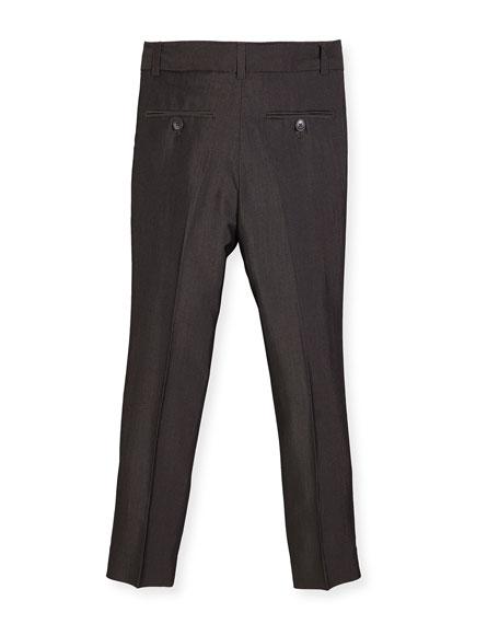 Slim Suit Pants, Charcoal, Size 4-14