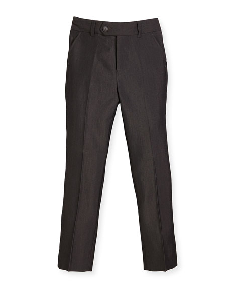 Slim Suit Pants, Charcoal, Size 4-14
