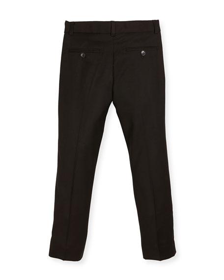Slim Suit Pants, Black, Size 4-14