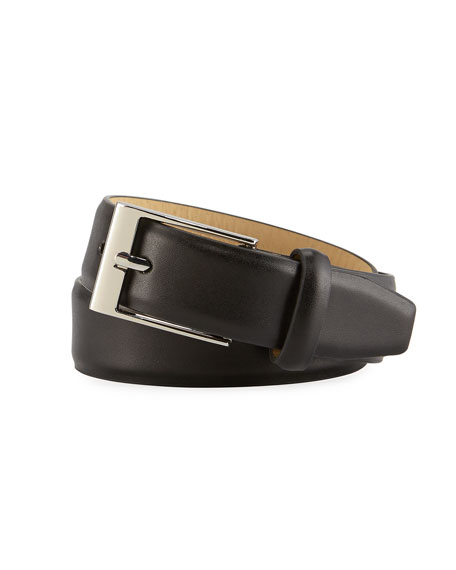 Appaman Boys' Faux-Leather Dress Belt, Black, S-L