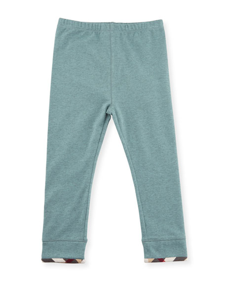 Penny Stretch Jersey Leggings, Green, Size 6M-3Y