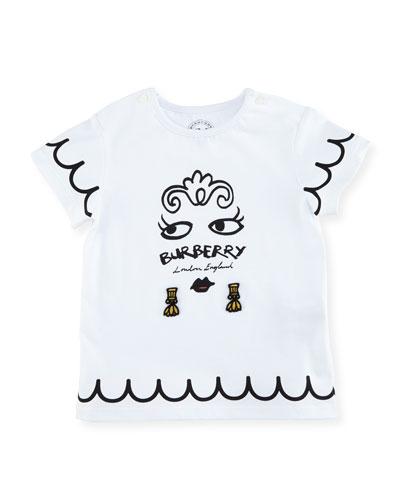Girls' Mini Fiona Logo Graphic T-Shirt, Size 6M-3Y