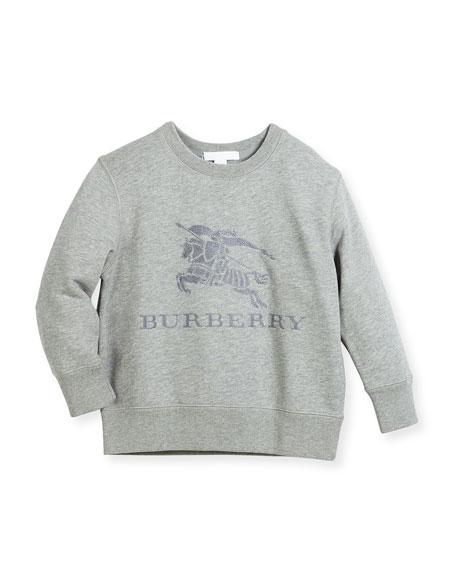 Burberry Boys' Mini Tom Logo Embroidery Sweatshirt, Size