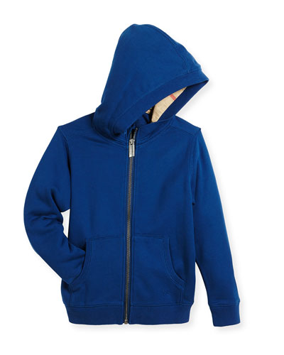 Pearcy Hooded Jersey Sweatshirt, Blue, Size 4-14