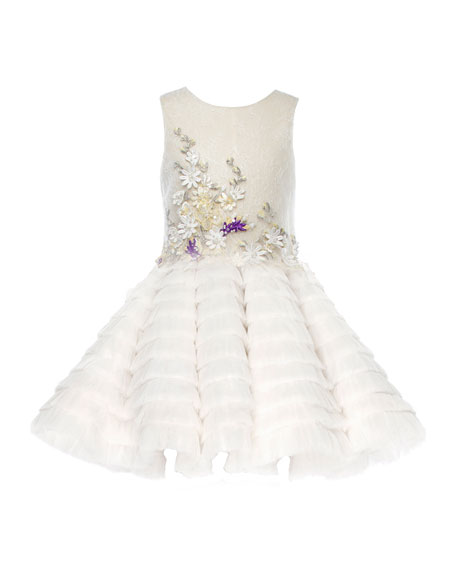 Pure BG Beauty Embroidered Lace Dress, White, Size 6