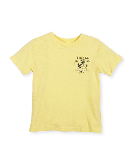 Nautical Jersey Tee, Yellow, Size 2-4