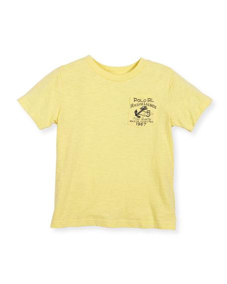Nautical Jersey Tee, Yellow, Size 2-4