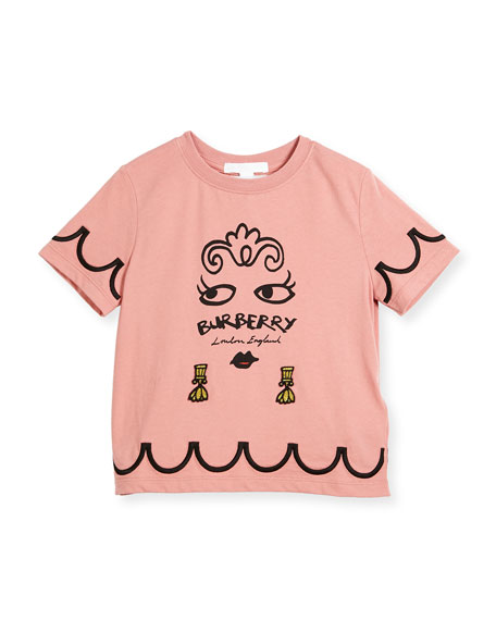 Burberry Girls' Fiona Logo Graphic T-Shirt