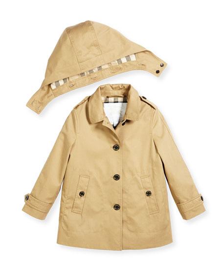 Geri Hooded Trenchcoat, Size 4