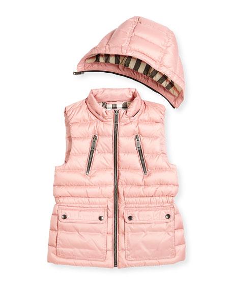 Maggie Down Gilet w/Detachable Hood, Size 4-14