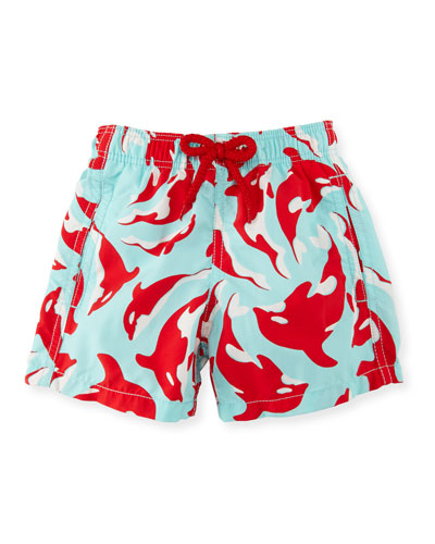 Jim Galak Printed Swim Trunks, Boys' 2-8