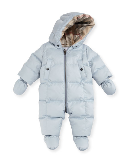 38ebc69a1 Burberry Skylar Quilted Down Snowsuit, Size 6-24 Months