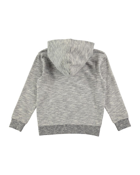 Maximo Hooded Skater Sweatshirt, Gray, Size 4-12