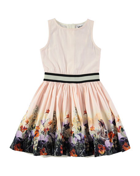 Carli Hiding Away Sleeveless Poplin Dress, Pink, Size 2T-12