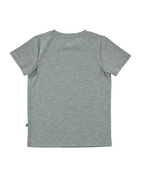 Ravento Heathered Graphic Tee, Gray, Size 4-12