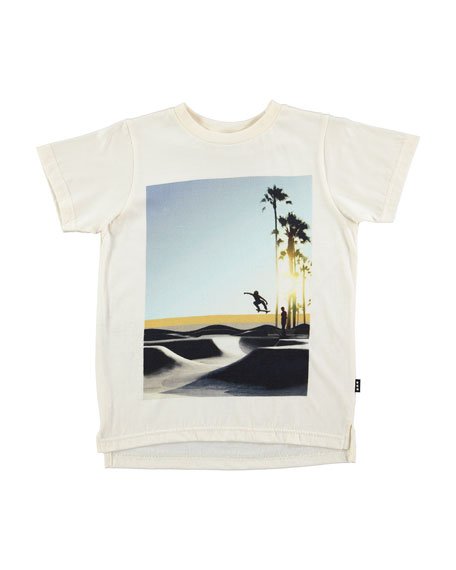 Read Graphic Skater Tee, White, Size 4-12