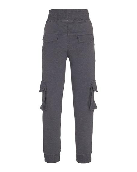 Afton Soft Lounge Cargo Pants, Gray, Size 4-12