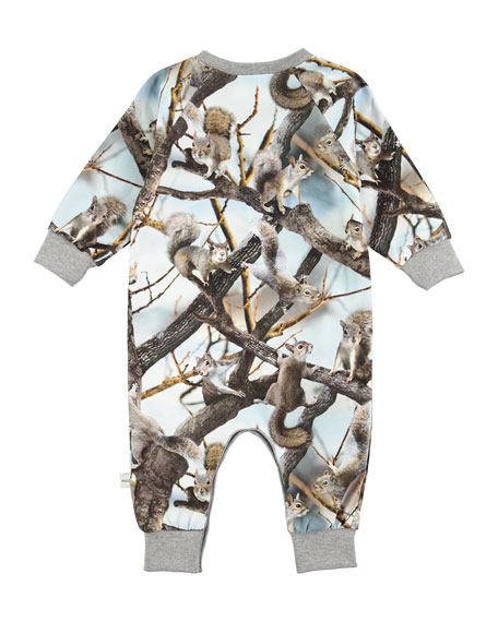 Fairfax Jersey Squirrels Coverall, Gray, Size 3-12 Months