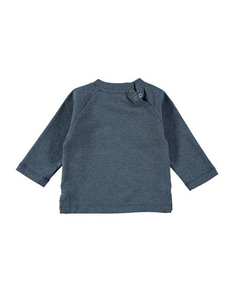 Evan Back Lights Raglan Tee, Blue, Size 12-24 Months