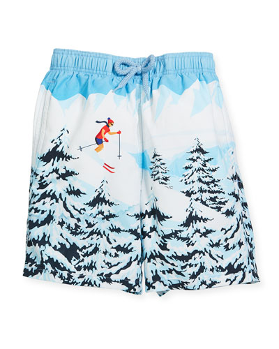 Jipa Ski Resort Swim Trunks, Size 10-12
