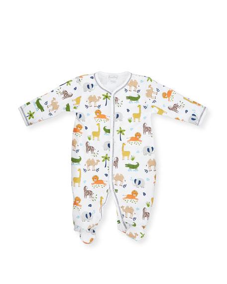 Jungle Jaunt Pima Footie Pajamas, Pink, Size Newborn-9 Months