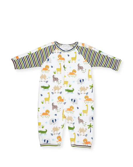 Kissy Kissy Jungle Jaunt Pima Coverall, Multicolor, Size