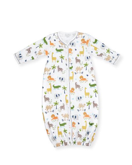 Kissy Kissy Jungle Jaunt Convertible Pima Sleep Gown,