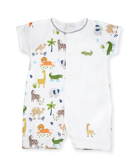 Jungle Jaunt Raglan Pima Shortall, Navy/White, Size 9-24 Months
