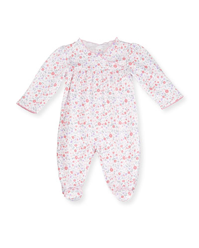 Fall Blossoms Pima Footie Pajamas, Pink, Size Newborn-9 Months