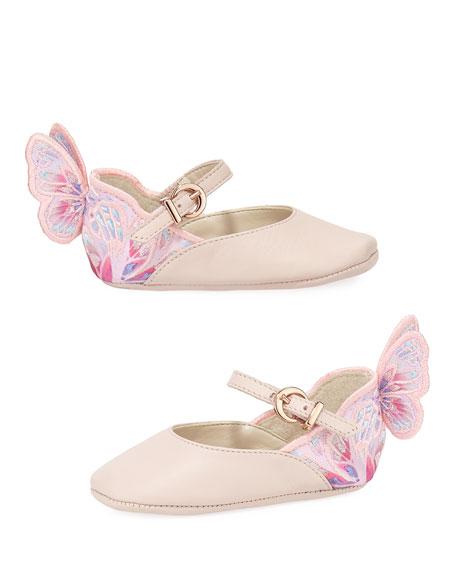 Sophia Webster Chiara Butterfly Mini Ballet Flat, Infant