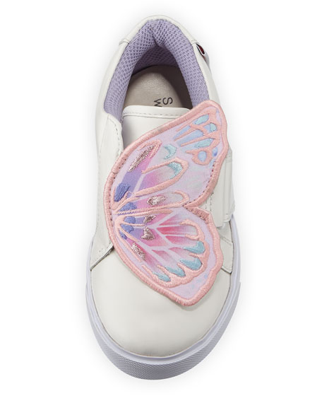 Bibi Embroidered-Butterfly Low-Top Sneaker, Sizes 5T-2Y