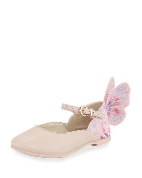 Sophia Webster Chiara Butterfly Mini Ballet Flat, Sizes
