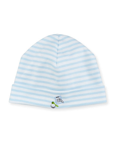 Kissy Kissy Mini Golf Striped Baby Hat, Light