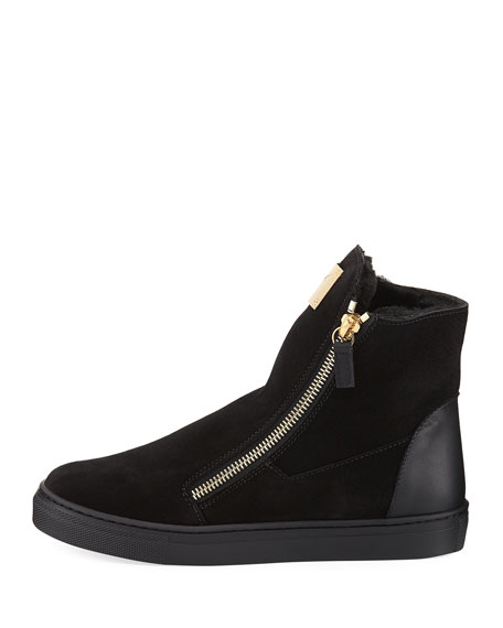Girls' London Laceless Suede High-Top Sneaker, Youth