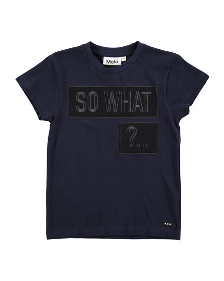 Rino So What Jersey Tee, Navy, Size 4-12