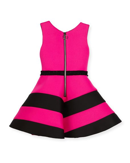 Colorblock Belted Dress, Size 4-6X