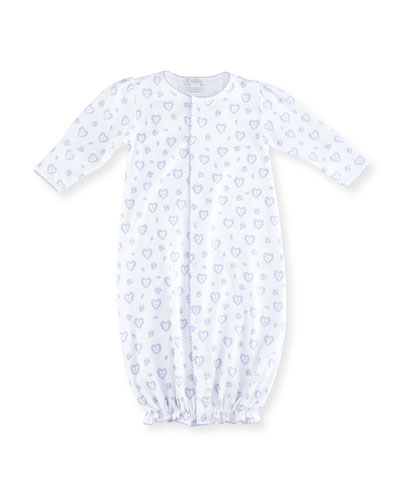 Fleur de L'Amour Printed Pima Convertible Sleep Gown, Size Newborn-Small
