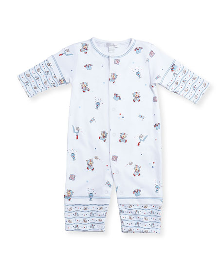 First Down Football Print Coverall, Size 3-24 Months