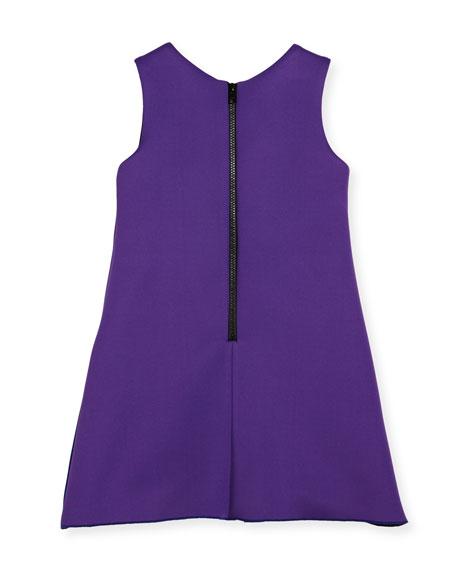 Preppy Perfect Colorblock Sheath Dress, Purple, Size 7-16