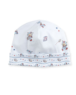 First Down Print Pima Baby Hat