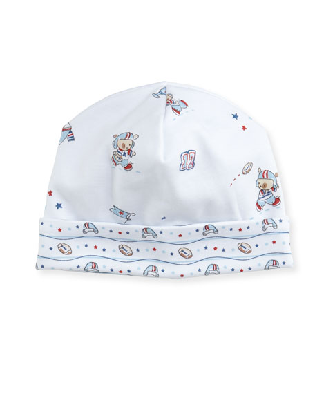First Down Print Pima Baby Hat