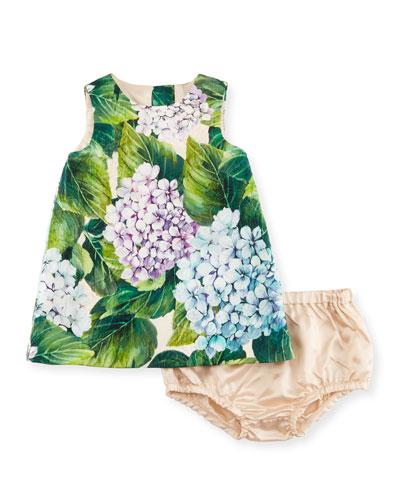 Taormina Dress w/ Bloomers, Green, Size 12-18 Months