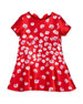 Degrade Poppies Bow Dress, Red/Pink, Size 3-10