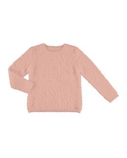 Knit Faux Fur Sweater, Size 8-16