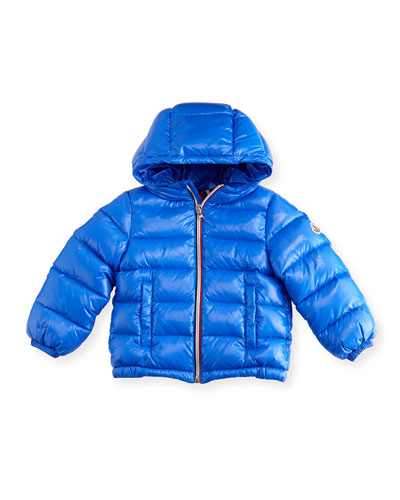 New Aubert Quilted Zip-Front Puffer Jacket, Size 12M-3