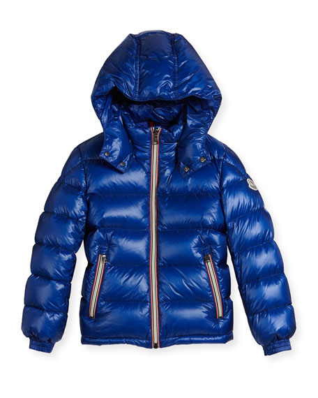 New Gaston Web-Trim Quilted Down Coat, Size 8-14