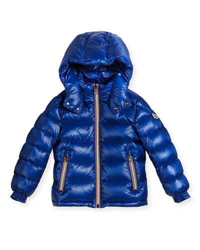 New Gaston Web-Trim Quilted Down Coat, Size 4-6