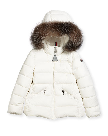 Aimeet Quilted Coat w/ Fur Hood, Size 4-6