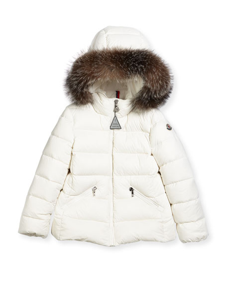 Aimeet Quilted Coat w/ Fur Hood, Size 8-14